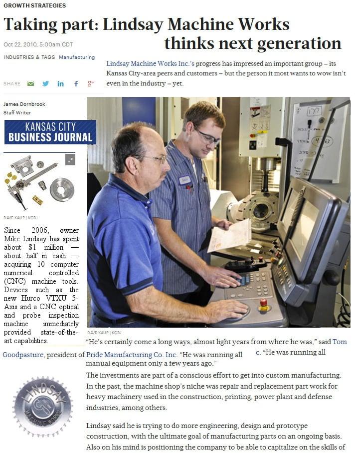 5 Axis CNC Mill - Kansas City Business Journal