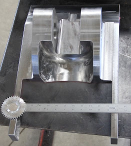 5 Axis Machined Construction Equipment Wedge